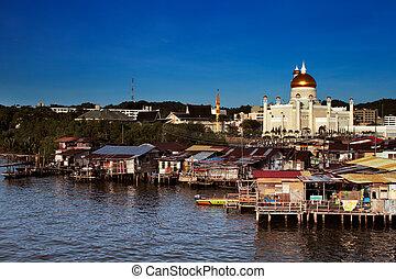 Brunei's famed water village - Brunei's capital Bandar Seri...