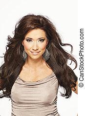 brunetka włos, wzór