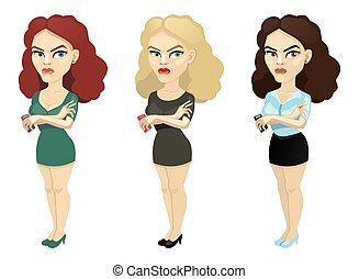 brunette, blonde and brown hair with a mobile phone
