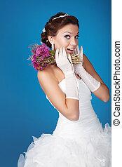 Brunette bride - Brunette hair bride portrait