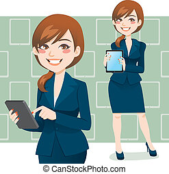 Brunette Business Woman - Beautiful brunette business woman...