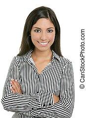 brunette, depuis, inde, bussinesswoman, étudiant