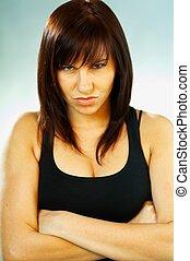 Brunette emotions - Emotions Brunette Portrait close up
