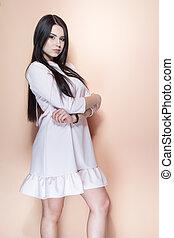 brunette girl posing
