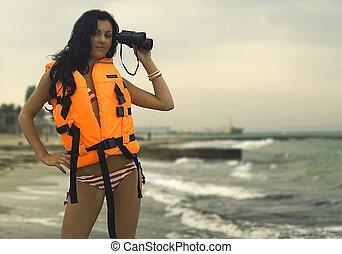 brunette-lifeguard