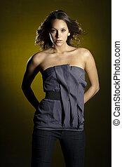 Brunette Model - A young brunette model photographed on a ...