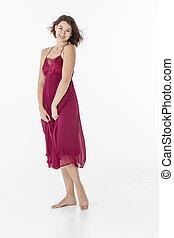 Brunette Model Dancing