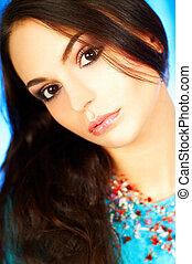 Brunette model portrait