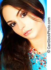Brunette model portrait - Young brunette model portrait