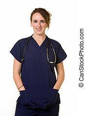 Brunette nurse