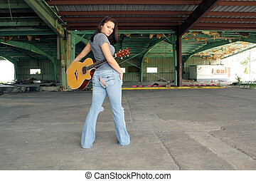 Brunette with a Guitar (2)