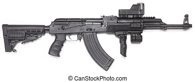 brunnen, bekannt, ak-47, kalashnikov, angriff, rifle.