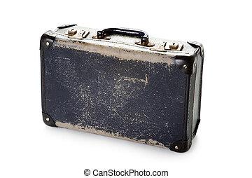 brunnen, getragen, weinlese, koffer