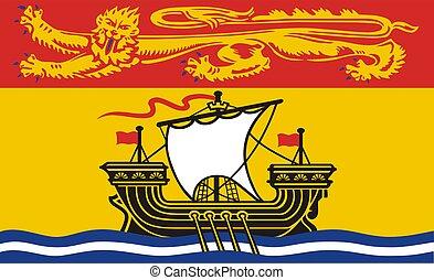 brunswick, état, nouveau, drapeau, canadien