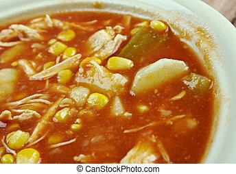 Brunswick stew - traditional dish, popular in the American ...