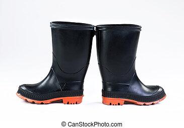 brus, boots., čerň, déšť