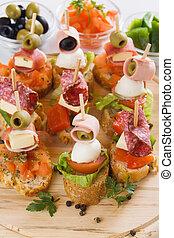 Bruschetta, italian canape - Bruschetta, italian cold buffet...