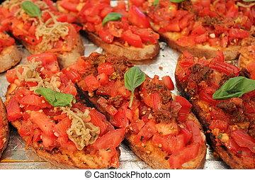 bruschetta toast tomato basil
