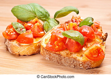 bruschette, italiano, antipasto