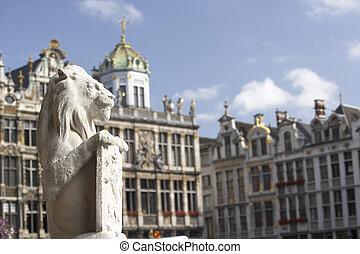 bruselas, lugar, magnífico, begium