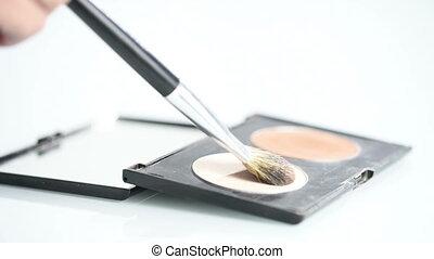 brush and powder. palette