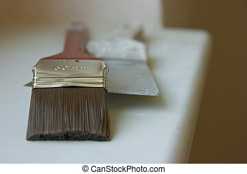 brush and putty knife