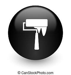 brush black glossy internet icon
