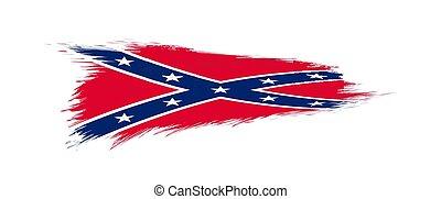brush., drapeau, grunge, confédéré