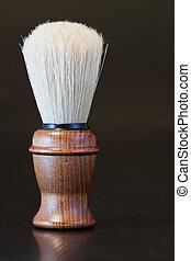 Brush - Elegant old brush with wooden handle for shaving
