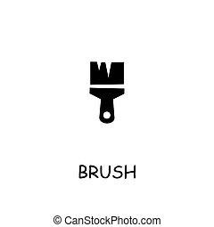 Brush flat vector icon