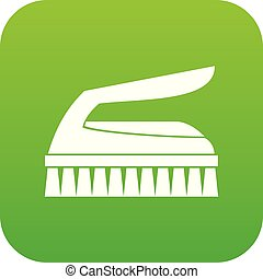 Brush for cleaning icon digital green for any design...
