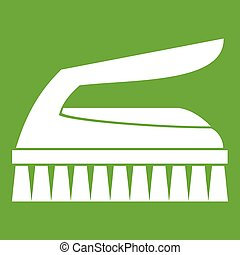 Brush for cleaning icon green - Brush for cleaning icon...