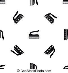 Brush for cleaning pattern seamless black - Brush for...