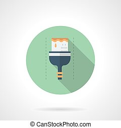 Brush for industrial coloring round vector icon
