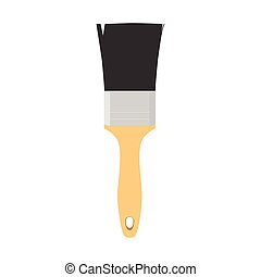 Brush for painting and construction works vector