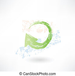 Brush green update aroow icon.