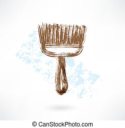 Brush grunge icon