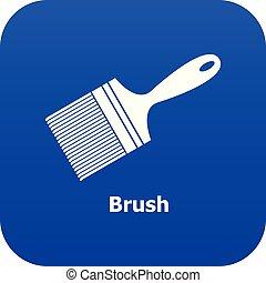 Brush icon blue vector