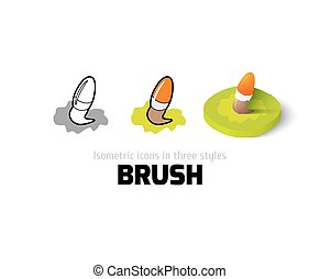 Brush icon in different style