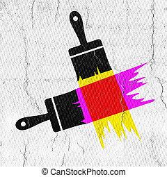 Brush illustration