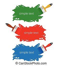 brush in color vector illustration
