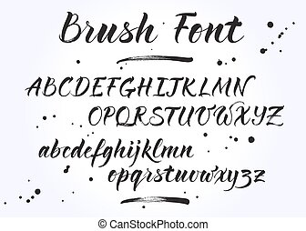 Brush Lettering Vector Alphabet