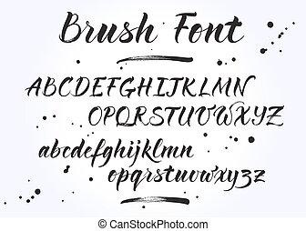 Brush lettering vector alphabet
