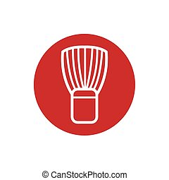 brush of barber shop block style icon