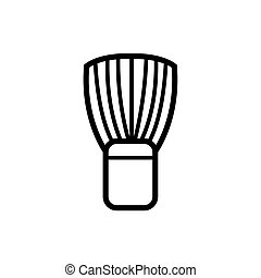 brush of barber shop line style icon