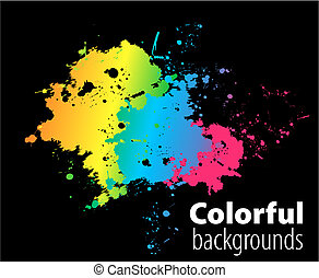 brush on color background