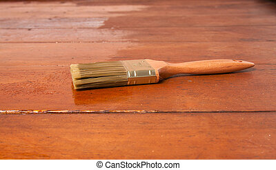 brush on the floor