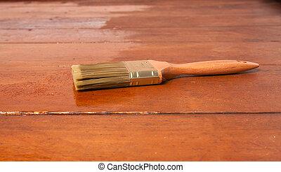 brush on the floor