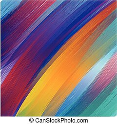 Brush paint colorful background. brush stroke texture, vector illustration