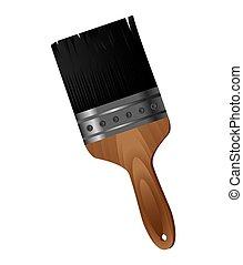 brush paint isolated icon
